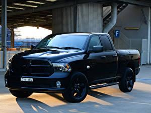 Hintergrundbilder Dodge Pick-up Metallisch Schwarz 2019 Ram 1500 Express Black Pack Quad Cab