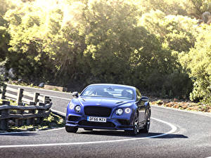 Wallpapers Bentley Roads Motion Blue Front continental gt supersport 2018 automobile