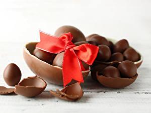 Papéis de parede Páscoa Chocolate Ovo Laço Alimentos