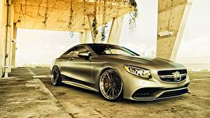 Wallpapers Mercedes-Benz Silver color Coupe AMG S-Class C217 auto