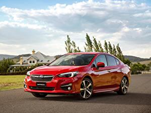 Bilder Subaru Rot Metallisch 2016 Impreza Sedan 2.0i