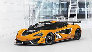 Papel de Parede Desktop McLaren Tuning Amarelo 2016-20 570S GT4 Carros