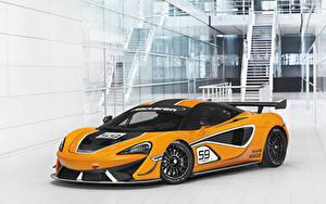 Bakgrundsbilder på skrivbordet McLaren Tuning Gul 2016-20 570S GT4 Bilar