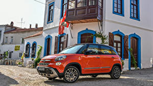 Hintergrundbilder Fiat Orange Metallisch 2017 500L Cross Autos