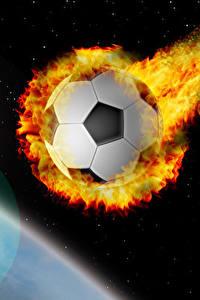 Hintergrundbilder Fußball Flamme Ball Flug Sport