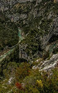 Fotos Frankreich Flusse Wälder Alpen Canyons Felsen Soleils