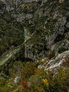 Fotos Frankreich Flusse Wälder Alpen Canyons Felsen Soleils Natur