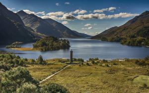 Fotos Schottland Landschaftsfotografie Gebirge See Küste Wolke Glenfinnan