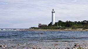 Bilder Steine Küste Leuchtturm Schweden Lighthouse Long Erik, Island Of Oland Natur