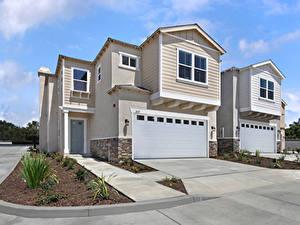 Fotos Vereinigte Staaten Haus Kalifornien Eigenheim Design Garage Tustin Städte