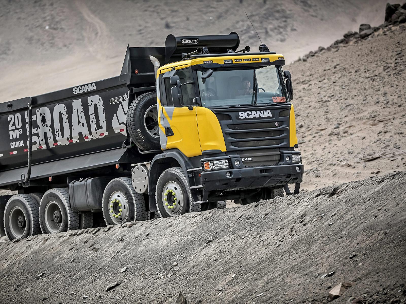 Photo lorry Scania 8x4, G440, 2013 Cars 1600x1200 Trucks auto automobile