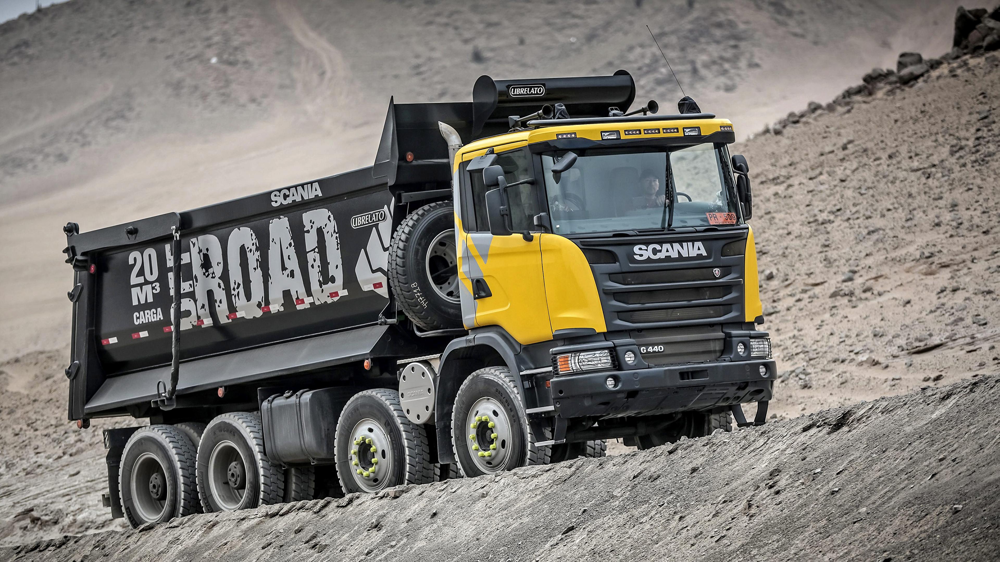 Photo lorry Scania 8x4, G440, 2013 Cars 3840x2160 Trucks auto automobile