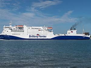Bilder Meer Schiffe Seitlich Brittany Ferries, MV Baie de Seine
