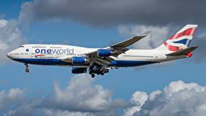 Bilder Boeing Flugzeuge Verkehrsflugzeug Seitlich British Airways Luftfahrt