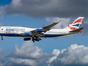 Bilder Boeing Flugzeuge Verkehrsflugzeug Seitlich British Airways