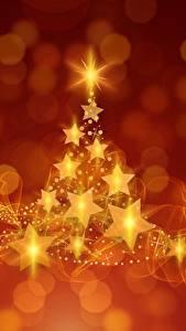 Hintergrundbilder Neujahr Kleine Sterne Christbaum