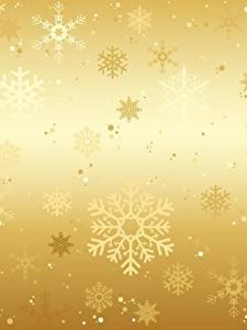 Fotos Textur Neujahr Gold Farbe Schneeflocken