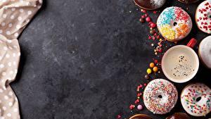 Fotos Donut Kaffee Zuckerguss Vorlage Grußkarte das Essen