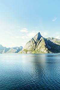 Hintergrundbilder Norwegen Lofoten Landschaftsfotografie Gebirge Himmel Küste Natur