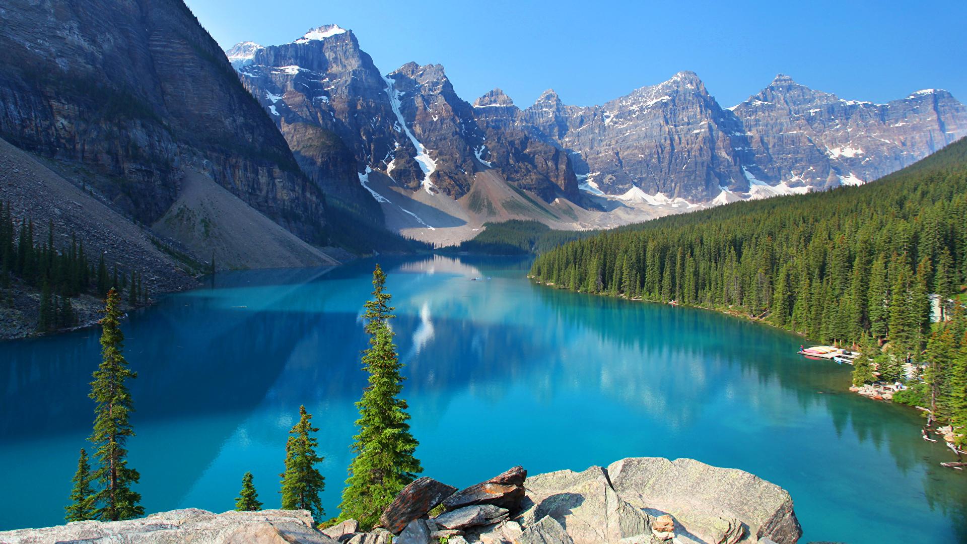 Fonds d'ecran 1920x1080 Canada Parc Montagnes Lac Forêts Photographie de paysage Banff Picea ...