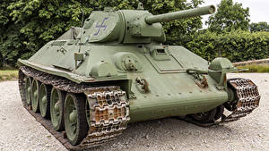 Fotos Panzer T-34 Russische Captured Heer