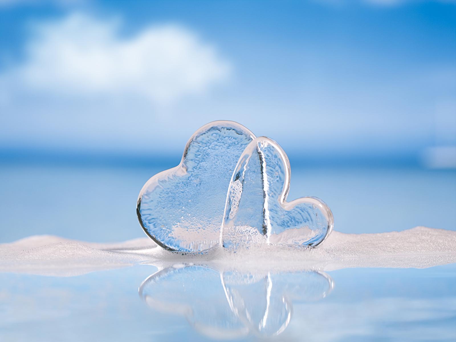Fotos von Valentinstag Herz Eis 2 1600x1200 Zwei