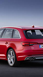 Image Audi Red Back view Estate car Metallic TDI quattro Avant, 2015 S line