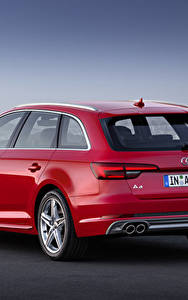 Image Audi Red Back view Estate car Metallic TDI quattro Avant, 2015 S line automobile