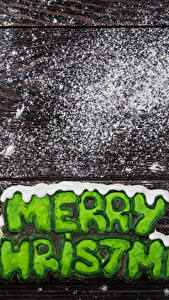 Bilder Neujahr Kekse Zimt Puderzucker Bretter Englischer Fausthandschuhe Lebensmittel