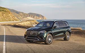 Images Mercedes-Benz Green 2021 AMG GLS 63 4MATIC automobile