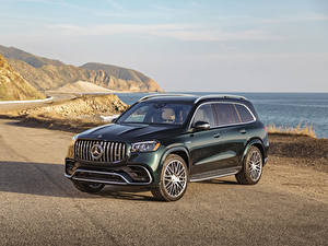Fotos Mercedes-Benz Grün 2021 AMG GLS 63 4MATIC