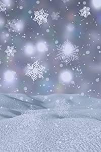 Hintergrundbilder Neujahr Schnee Schneeflocken