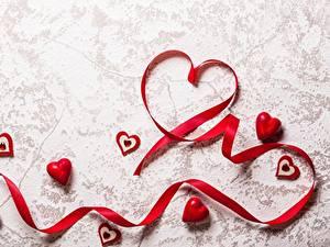 Papéis de parede Dia dos Namorados Fita Coração