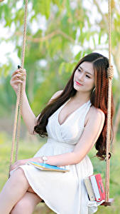 Fonds d'écran Asiatique Balançoire Les robes Belles Filles
