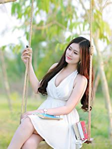 Hintergrundbilder Asiatische Schaukel Kleid Schön