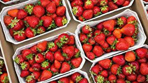Hintergrundbilder Erdbeeren Viel