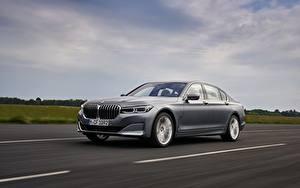 Tapety na pulpit BMW Drogi Ruchu Szara Metaliczna Sedan 7 series, G11/G12 samochód