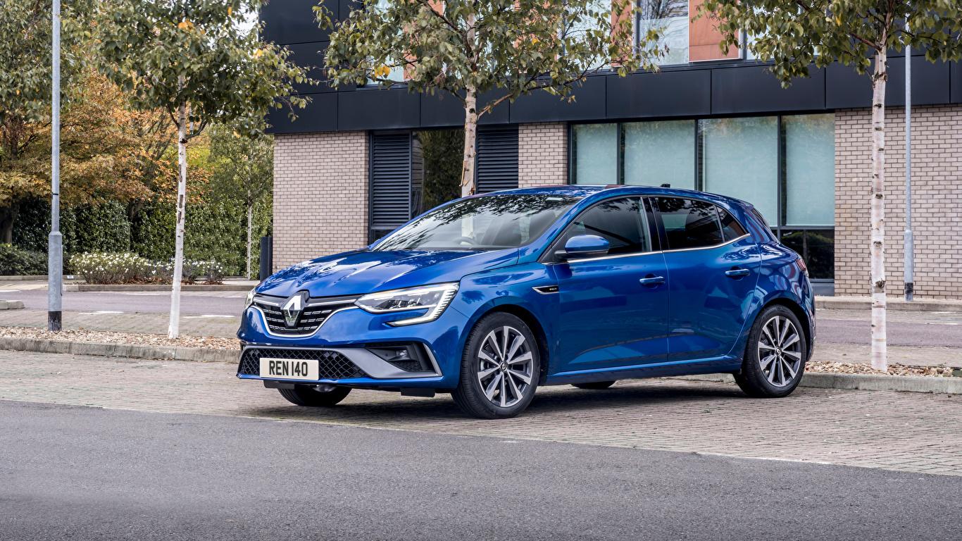 Fotos Renault Blau auto Metallisch 1366x768 Autos automobil