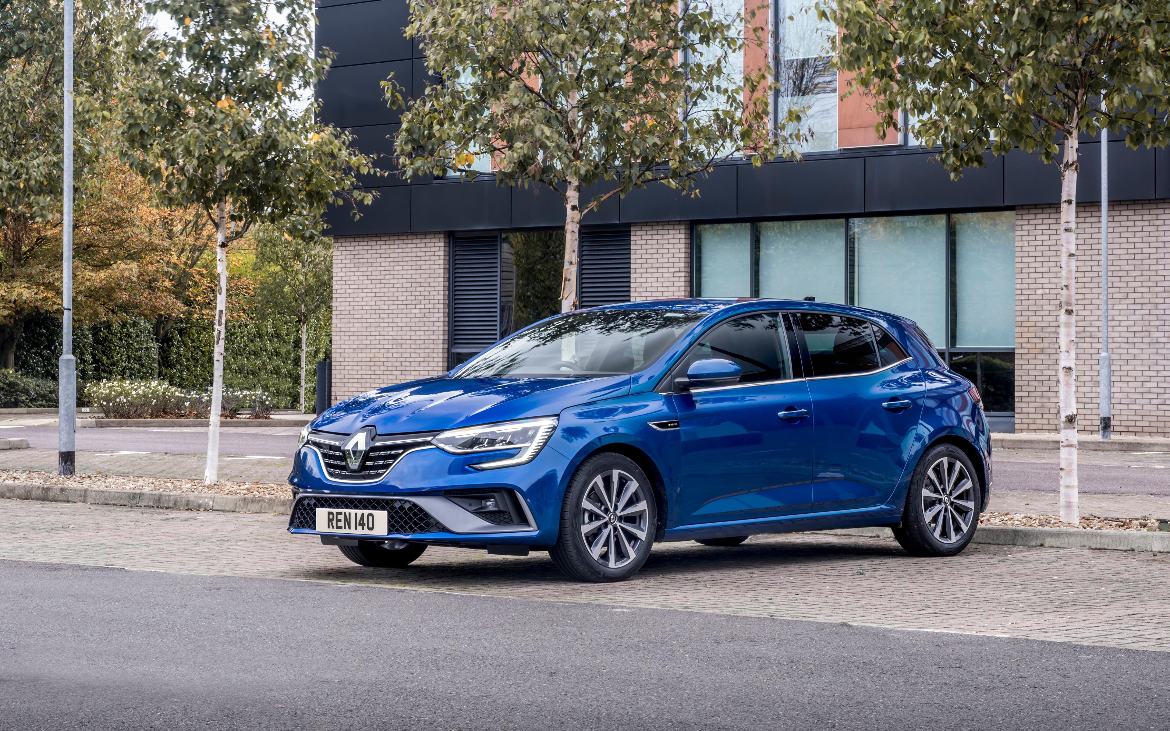 Fotos Renault Blau auto Metallisch 3840x2400 Autos automobil