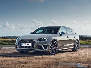 Bilder Audi Graues Metallisch Kombi 2019 S4 Avant TDI automobil