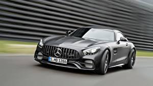 Fondos de escritorio Mercedes-Benz La velocidad Gris AMG C190 GT-Class autos