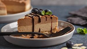 Fotos Torte Schokolade Stück Essgabel
