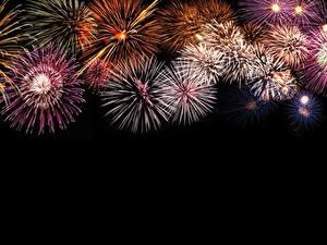 Fotos Feuerwerk Schwarzer Hintergrund