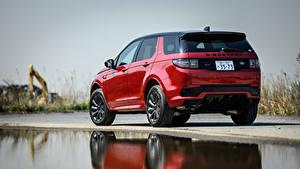 Hintergrundbilder Land Rover Hinten Rot Metallisch SUV Discovery Sport D180 SE R-Dynamic, JP-spec, L550, 2020 Autos