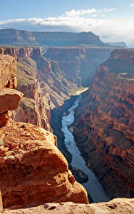 Fotos Grand Canyon Park Vereinigte Staaten Park Gebirge Flusse Canyon Felsen Natur