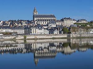 Hintergrundbilder Frankreich Gebäude Fluss Spiegelt Blois Städte