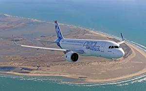 Fotos Verkehrsflugzeug Airbus Flug A320 Luftfahrt