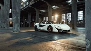 Hintergrundbilder McLaren Weiß Metallisch 2018 Novitec 570S Spider Autos