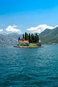 Hintergrundbilder Montenegro Insel Berg Bucht Bay Kotor, Perast