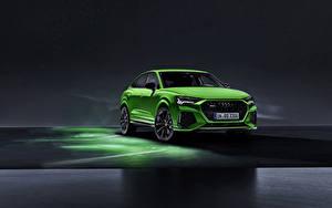 Bilder Audi Vorne Grün RS Q8 Autos